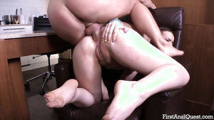 Hot sexy porn with youn slut Kerry Levine takes cock in ass.