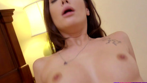 Young stepsister Gia Paige rige my cock, and her moans fill the room!