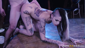 Tattoed Leigh Raven is a stripper whos dont mind fo fuck with husbant's friend!