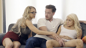 Stepmom teached her stepson Kyle Mason how to fuck young Elsa Jean!