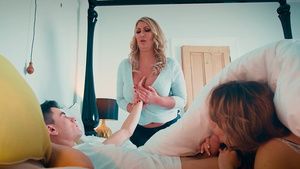 Jordi and his girlfriend, Fira Ventura, busted by his stepmother Leigh Darby!