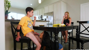 Maya Bijou starring in porn video - Stepsister fucks step brother while mom not see!