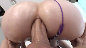 Teen redhead Ava Little anal fucking with big dick!