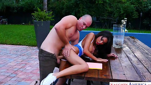 Busty Shay Evans is hot and horny in best porn tubes outdoor!