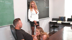 Horny teacher Briana Banks wants to fuck with her students!