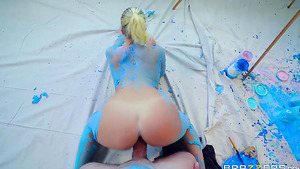 Painted pornstar Bailey Brooke doggystyle teen porn tubes!