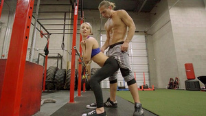 Fit girl Kenzie Reeves sucking cock in the GYM in mobile porn tube!
