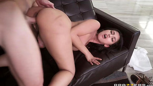 Young brunette Sophia Leonepaying for rent by her sexy body!