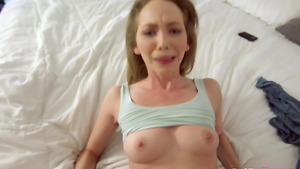 Teen Angel Smalls fuck with stepbrother while parents out home!
