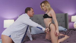 Dirty nanny Aubrey Sinclair fucks with her boss!