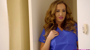 Moms medical advice to Carolina Sweets and her stepbrother Justin in stepsister porn!