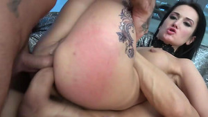 Russian hottie Angie Moon double anal penetration in anal xxx!
