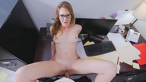 Young Ashley Lane fucked with cumshot by co-worker in office!