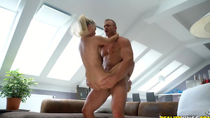 Tiny girl Lola Blond manhandled into ridiculous positions!