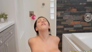 Сurvy body Valentina Jewels takes cock in her freshly shaved twat!