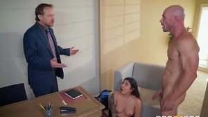 Banging my boss's daughter Brenna Sparks and cum on her cute face!