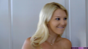 Laura Bentley watching her stepson fuck her friend Anya Olsen and joins to them!