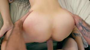Brother fucks two step sisters Avery Moon and Brooke Haze in amateur pov porn!