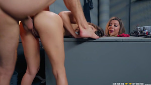Young Riley Reid assfucked on Brazzibots factory in sexy porn videos!