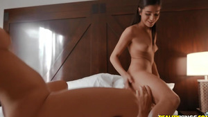Threesome sex with Latina maids Emily Willis and Katana Kombat