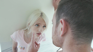 Blue Eyed babe Kate Bloom find daddy naked in the bathroom!