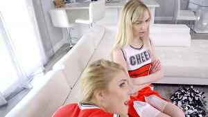 Stepbrother fuck cheerleader stepsiter Nikki Peach and Mackenzie Moss!