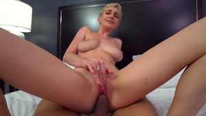 Big tits step sister Skye Blue rides my cock!