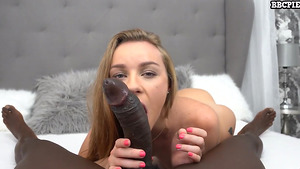 Angel Emily takes a BBC in her ass and gets an anal creampie.