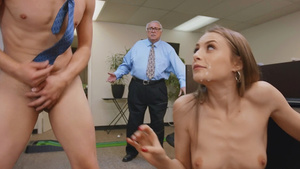 Coworkers fucks in office- Kyler Quinn's anal at work!