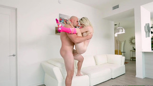 Tiny cutie Jayden Black fucks with dad's best friend!