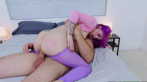 Purple-haired babe Valerie Steele best fuck of her life!