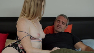 Nikki Sweet seduces her stepdaddy Criss Simon with tits and blowjob.