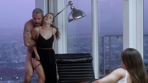 Steven fuck in ass and cum inside Kalina Ryu fucking while Remy LaCroix watching it!
