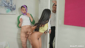 Dad founds daughter Maya Farrell fucking with college student Johnny The Kid