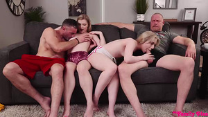 StepDaughters Emma Starletto and Harlow West Swap stepFathers for fuck them